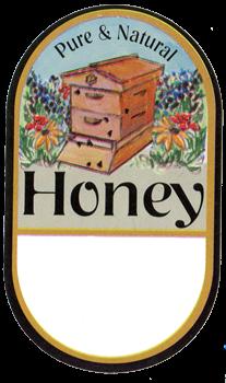 Honey Labels - Garden Hive (100 pk)