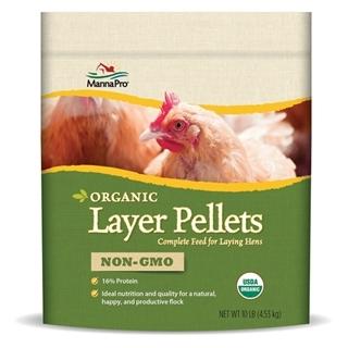 Manna Pro Organic 16% Non-GMO Layer Pellets, 10 lb
