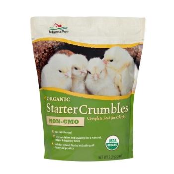 Manna Pro 19% Non-GMO Organic Starter Crumbles, 5 lbs.