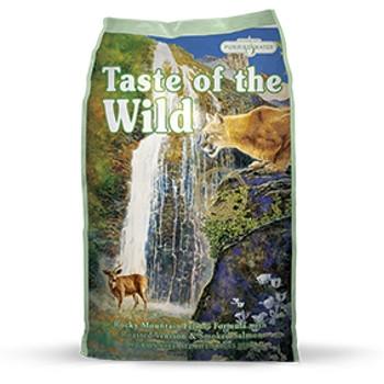 Taste of the WildRocky Mountain Feline® Formula with Roasted Venison & Smoked Salmon, 5 lbs.