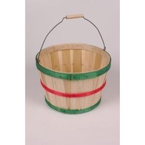Multicolored Half Bushel Basket with Handle