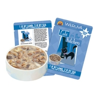 Cats in the Kitchen: 1 if by Land, 2 if by Sea Grain Free Cat Food, 3 oz.