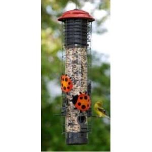 Ladybug Squirrel-Resistant Tube Feeder - $24.88