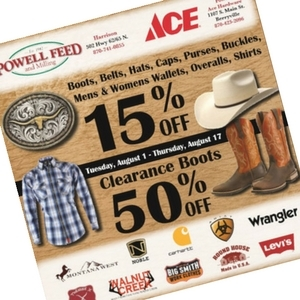 Berryville and Harrison Boot and Accessory Sale!