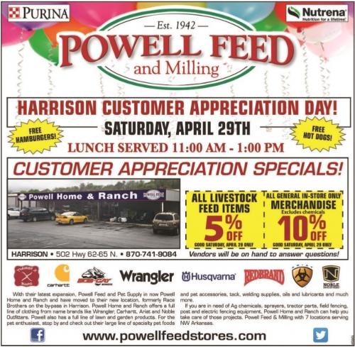 Customer Appreciation Sales- Harrison