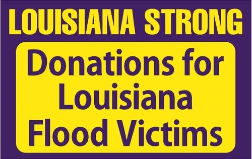 Donations for Louisiana Flood Victims