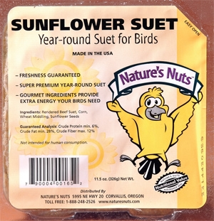 Nature's Nuts Sunflower Suet