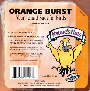 Nature's Nuts Orange Burst Suet