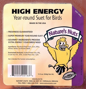 Nature's Nuts High Energy Suet