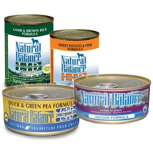 $1 Off Natural Balance Dog and Cat Food Cans