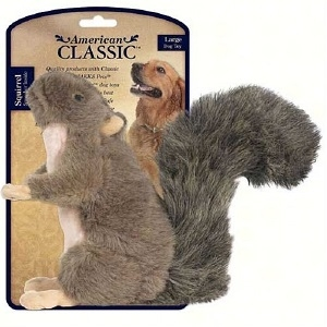 Jakks Pets American Classic Plush Squirrel Dog Toy