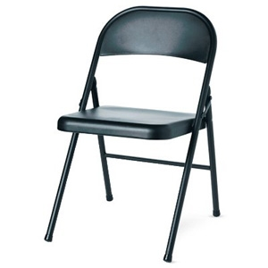 Wok & Pan Ind Inc. Steel Folding Chair, Black, Must Purchase in Quantities of 4