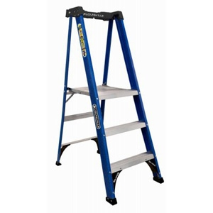 Louisville 3-Step Platform Ladder, Fiberglass, Type II Rating