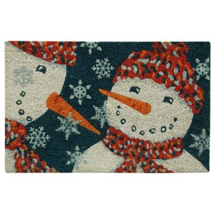 Bacova Koko Door Mat, Snowman, 18 x 28-In.