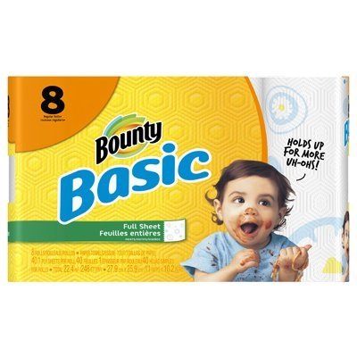 Bounty Basic Paper Towels, 8 Pack