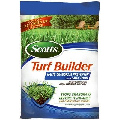 Turf Builder with Halts Crabgrass Preventer with Lawn Fertilizer, 30-0-4