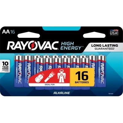 Rayovac AA Alkaline Batteries, 16 pk.