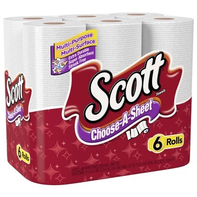 Scott® Choose-A-Sheet Paper Towels, 6 pk.