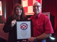 "Kent and Chastity- Kent Awarded ""Checker Up America"""