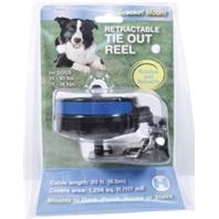 Reflective Retractable Tie Out Reel With Bracket