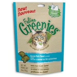 Greenies Feline Ocean Fish Flavor Treats 3 oz.