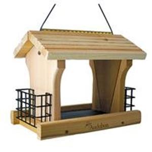 Cedar Wood Ranch Style Bird Feeder W/suet Holders