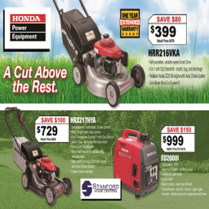 Honda Power Equipment Specials