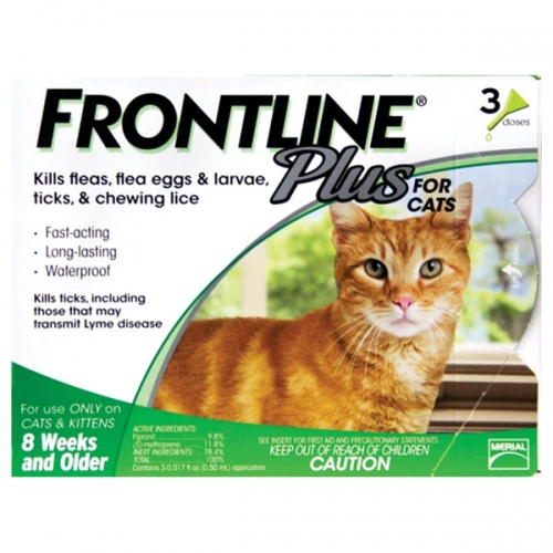 Frontline® Plus 3-Dose Flea Control for Cats