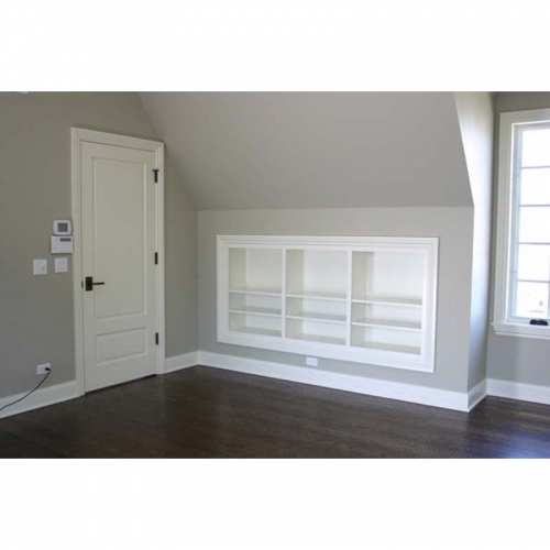 Bedroom recessed shelving/storage