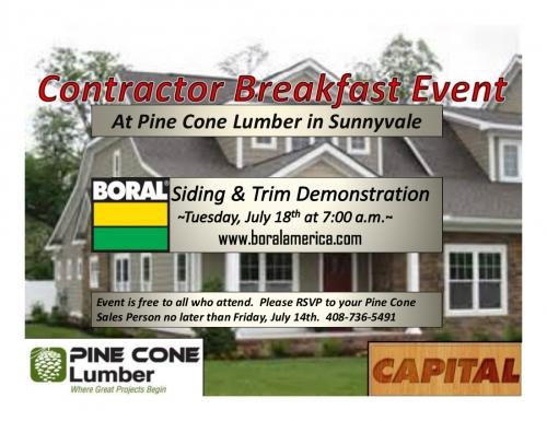 Boral Contractor Breakfast Event