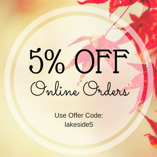 5% OFF Online Orders