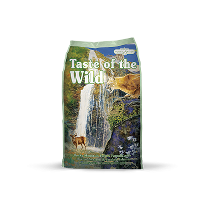 Taste of the Wild Rocky Mountain Feline® Formula with Roasted Venison & Smoked Salmon