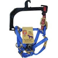 Adjustable Horse Halter with Leather Headpole