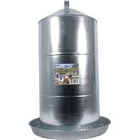 Galvanized Poultry Fountain - 3 gallons