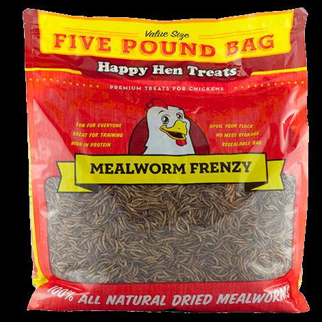 Happy Hen Mealworm Frenzy Chicken Treats, 5 lbs.