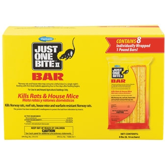 Just One Bite II Bars Rat & Mouse Killer 8 Lb