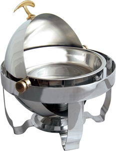Chafer 4 Qt Stainless Roll Top