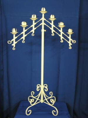 Candelabra Six Branch With Unity In Middle