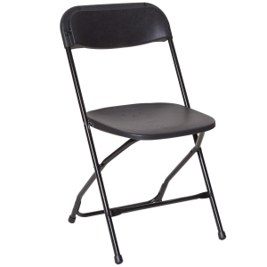 PRE Black Vinyl Folding Dining Chair