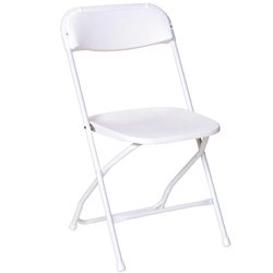 White Wedding Vinyl Folding Chair