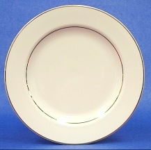Salad Plate Diplomat/ Off White With Gold Band