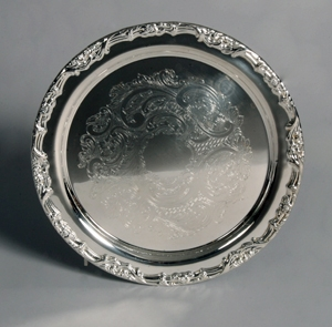 Silver Small Round Tray