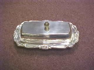Butter Dish Silver