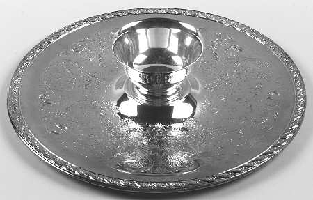 Silver Chip And Dip Tray