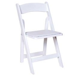 White Wooden Folding Chair