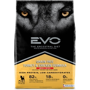 EVO Turkey & Chicken Formula Small Bites Dog Food