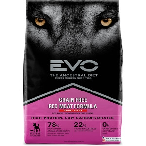 EVO Red Meat Formula Small Bites Dog Food