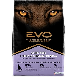 EVO Turkey & Chicken Formula Cat & Kitten Food
