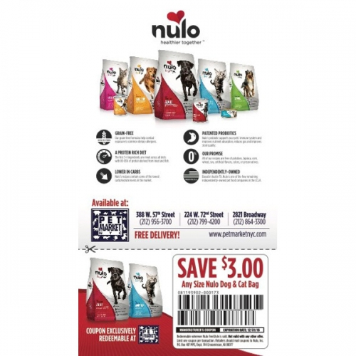 $3 Off Any Size Nulo Dog & Cat Bag