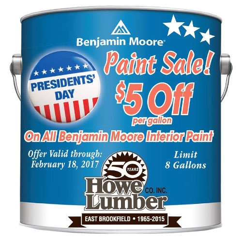 Presidents' Day Paint Sale!